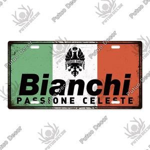 新品◇15×30cm ヴィンテージ金属看板 Bianchi ビアンキ 自転車 バイク ロードバイク クロスバイク MTB ピスト ガレージ y446