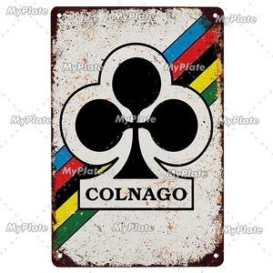 新品◇20×30ヴィンテージ金属看板 コルナゴ colnago 自転車 バイク サイクリング ロードバイク クロスバイク MTB ピスト ガレージ y415
