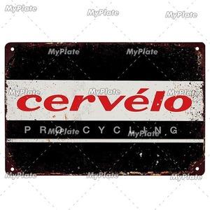 新品◇20×30ヴィンテージ金属看板 cervelo サーベロ サーヴェロ 自転車 ロードバイク クロスバイク MTB ピスト ガレージ y436