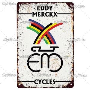 新品◇20×30ヴィンテージ金属看板 EDDY MERCKX エディメルクス 自転車 バイク ロードバイク クロスバイク MTB ピスト ガレージ y417