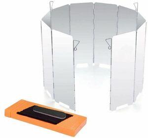 風除け板 ウインドスクリーン アルミ製 収納袋 折り畳み