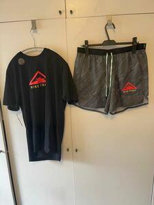 NIKE TRAIL XLサイズ ナイキ トレイル ランニングウェア 上下セット Tシャツ ハーフパンツ ショーツ インナー付き