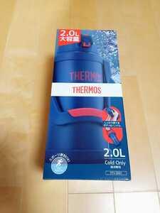 送料無料 新品未使用!サーモス THERMOS スポーツボトル 水筒 真空断熱2リットル 大容量 ネイビー ジャグ