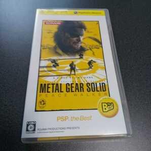 PSP【メタルギアソリッド/ピースウォーカー】2010年コナミ [送料無料]返金保証あり