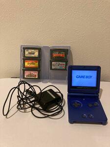 ゲームボーイアドバンスSP 純正充電器とソフト付き