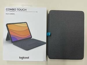【中古美品】logicool iPadAir 10.9インチ 第4世代 トラックパッド付きキーボード一体型ケース iK1095GRA