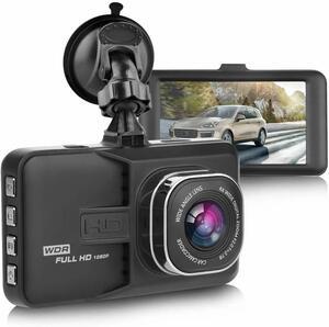 MNB78 S54 ドライブレコーダー 車載カメラ 1080P フルHD Gセンサー ループ録画 駐車監視 WDR 衝撃録画 日本語 ブラック