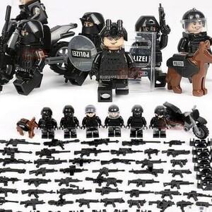 【激安】MOC LEGO レゴ ブロック 互換 SWAT 特殊部隊 アンチテロ部隊 カスタム ミニフィグ 6体セット 大量武器・装備・兵器付き