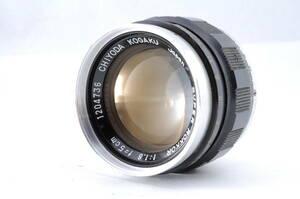 千代田光学 CHIYODA KOGAKU SUPER ROKKOR 5cm 50mm f1.8 ライカ Lマウント MF 一眼カメラレンズ 管Q2731