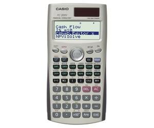 【 新品 】 カシオ FC-200V 金融電卓 FP・証券アナリスト・不動産鑑定士等向き 【 生産完了品 】 CASIO