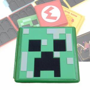 switch カードケース マインクラフト クリーパー カード収納 ソフトケース