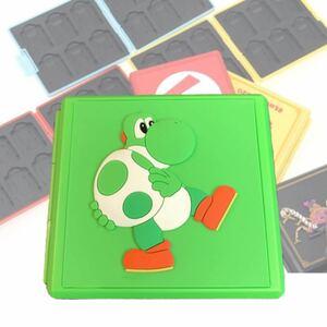 switch カードケース ヨッシー スーパーマリオ カード収納 ソフトケース