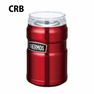 サーモス 保冷缶ホルダー ROD002 ステンレス レッド 赤