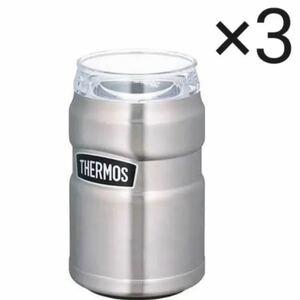 サーモス 保冷缶ホルダー ROD002 ステンレス シルバー3本