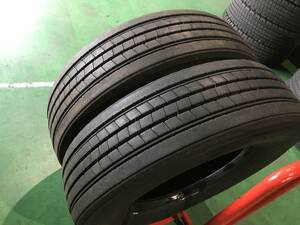 w085-1-9 ☆295/80R22.5 BS ブリヂストン エコピア R221Ⅱ 中古 2019年製 2本セット 溝13mm!低燃費重視 k170