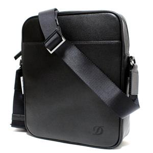 デュポン S.T.Dupont 高級本革 グレインレザー ショルダーバッグ/斜め掛けバッグ (ブラック) 新品