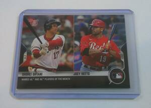 【 2021 MLB TOPPS NOW 】 大谷翔平 Shohei Ohtani Joey Votto #604 2021.8.2 AL and NL PLAYERS OF THE MONTH ⑥