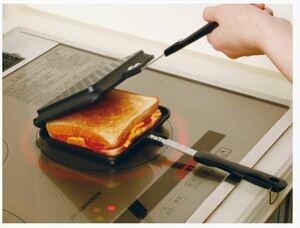 谷口金属(Taniguchi-metal) ホットサンドメーカー IH・ガス火対応 ブラック フッ素加工 新品