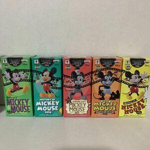 【新品未開封】☆ミッキーマウス☆ ディズニーキャラクターズ ワールドコレクタブルフィギュア -HISTORY OF MICKEY MOUSE - 全5種セット