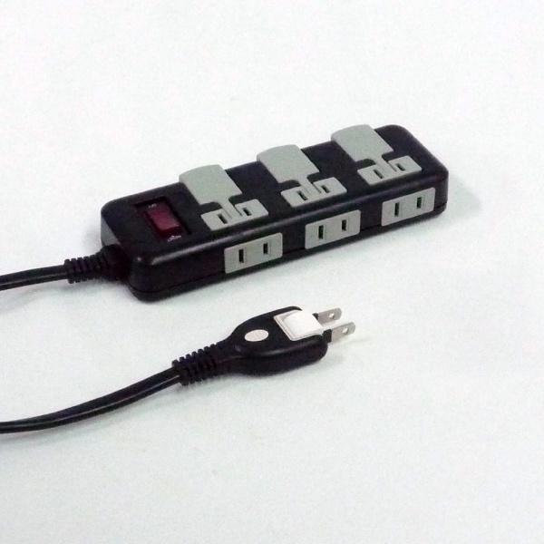 【未使用・未開封品】電源タップ 6個口 電源 スイッチ付 ブレーカー付 延長コード 180°回転 AV 抜き タップ スイングプラグ 集中電源