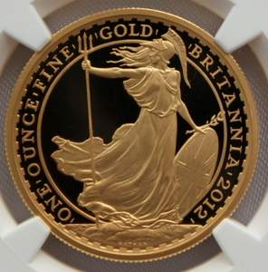 2012 イギリス ブリタニア 100ポンド 金貨 NGC PF70UC 最高鑑定!!