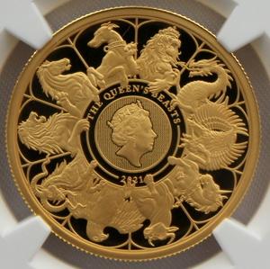 2021 イギリス クイーンズビースト コンプリーター 100ポンド 金貨 NGC PF70UC 最高鑑定品!!