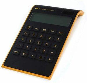 電卓 ビジネス電卓 太陽エネルギー電卓 電卓 テンキー 電卓 電卓 10桁 両用電卓 デザイン電卓 (ブラック)