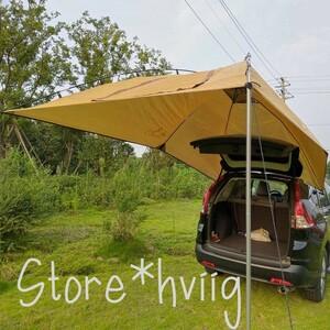 車に簡単設置!カーサイドタープ 車 テント 日よけ シェード キャンプ 車中泊 キャンプ ツーリング カーキャンピング