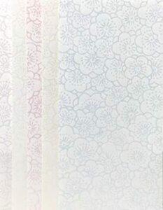 梅 封筒型万円袋 【Amazon.co.jp 限定】和紙かわ澄 きら染め和紙金封 9×18.5㎝ 封筒型万円袋 梅