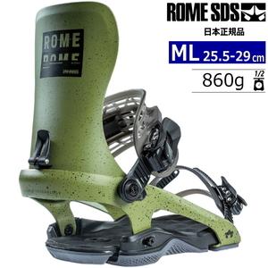 21-22 ROME SDS 390 BOSS カラー:OLIVE MLサイズ メンズ スノーボード バインディング ビンディング ローム 390ボス 日本正規品