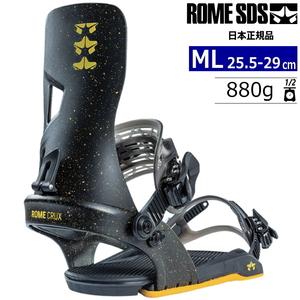 21-22 ROME SDS CRUX カラー:BLACK YELLOW MLサイズ メンズ スノーボード バインディング ビンディング ローム クラックス 日本正規品