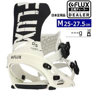21-22 FLUX DS カラー:BLACK WHITE Mサイズ メンズ スノーボード バインディング ビンディング フラックス ディーエス 日本正規品