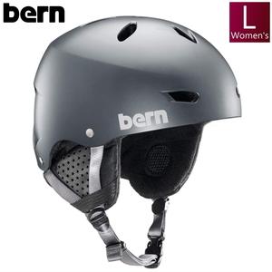 женщины [L размер ]BERN WT BRIGHTON  цвет :SATIN METALLIC STORM  шлем   протектор   женщины   сноуборд   лыжи