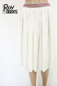 90%OFF 訳あり 新品 ロイロジャース ROY ROGER'S スカート 40 ESK384 Mサイズ ホワイト レディース ギャザースカート フレア コットン