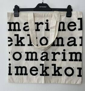 マリメッコ エコバッグ ロゴ4列 レア ノベルティ トートバッグ 黒 ブラック 北欧 マリロゴ marimekko