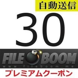 【自動送信】FileBoom 公式プレミアムクーポン 30日間 通常1分程で自動送信します