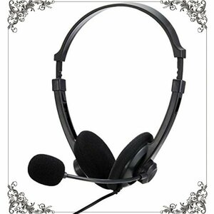未使用/送料込です。BUFFALO 両耳ヘッドバンド式ヘッドセット USB接続 ブラック BSHSUH12BK