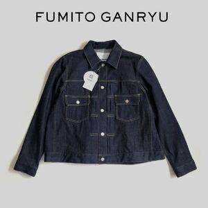 ◆21SS【新品】FUMITO GANRYU バックタック デニムジャケット size2 インディゴ 定価47,300円 フミトガンリュウ コムデギャルソン ブルゾン