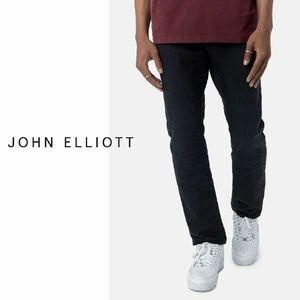 【新品】定価48,400円 JOHN ELLIOTT ジョンエリオット THE KANE 2 日本製 ブラック デニムパンツ size31 ウォッシュ加工 国内正規品
