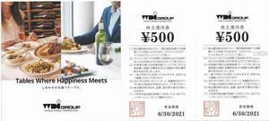 【送料無料】 WDI株主優待券 カプリチョーザ 食事券5500円分 2021.11.30迄(延長)