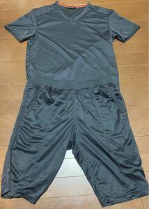 ユニクロ UNIQLO 半袖Tシャツ ハーフパンツ トレーニングウェア セットアップ グレー