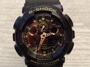 CASIO G‐SHOCK ジーショック GA-100CF GA-100 SERIES 腕時計 wrist watch クオーツ メンズ 黒 ブラック BLK black