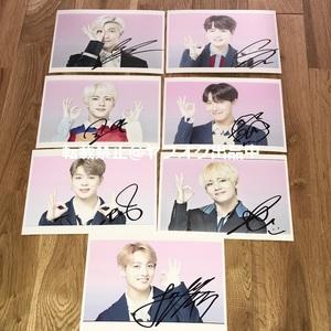 BTS◎スチール写真7枚セット(2Lサイズ)◎直筆サイン
