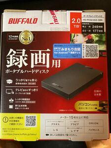 2TB ポータブルHDD 定評あるBUFFALO USB3.2(Gen.1) 外付けHDD Macも対応 静音 超小型 バスパワー