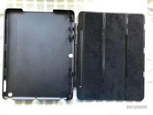 ♪iPad4,iPad5用 ケース 丈夫な硬質プラスチック、ブラック、スタンド可