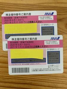 ★パスワード通知★ ANA 全日空 株主優待券 有効期限2021年11月30日まで延長 21/5/31までのご搭乗記載分
