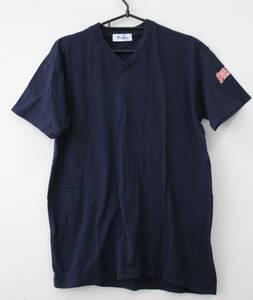 YAKULT SWALLOWS ヤクルトスワローズ Vネック半袖Tシャツ メンズ Lサイズ ネイビー 01