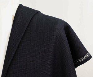 ●激レア英国製3プライ・艶々紺ブレ用・濃紺メッシュ生地・通気性良し・ジャケット用生地・長さ2.0m