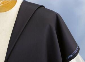 ■スキャバル社の上質スーパー120服地・濃紺無地・勝負スーツにいかが?・長さ3.55/3.35m