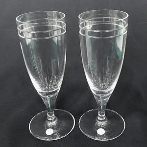 ティファニー アトラスピルスナー ワイン グラス ペア 口径 7cm 高さ 19.5cm 箱付き 食器 TIFFANY&Co